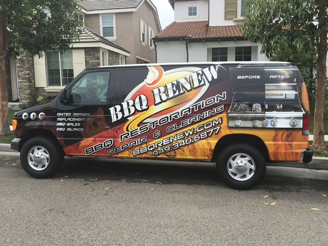 BBQ Renew Van with a Wrap