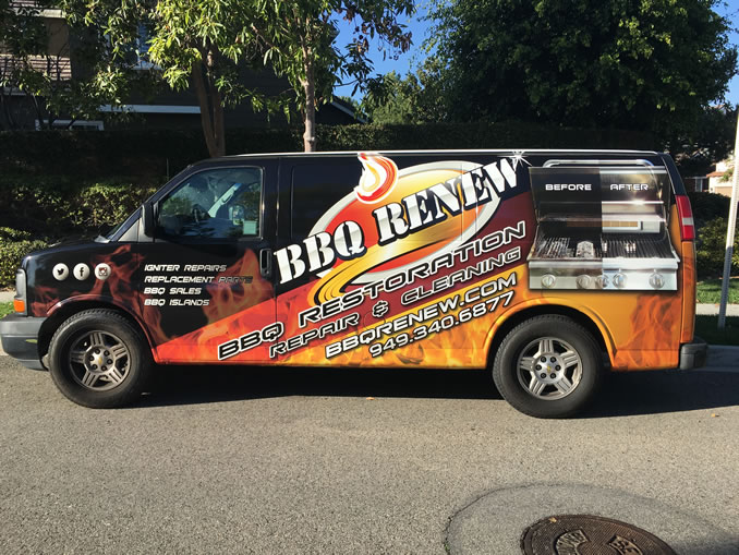 BBQ Renew Van with Wrap